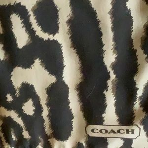 NWOT....COACH animal print wrap